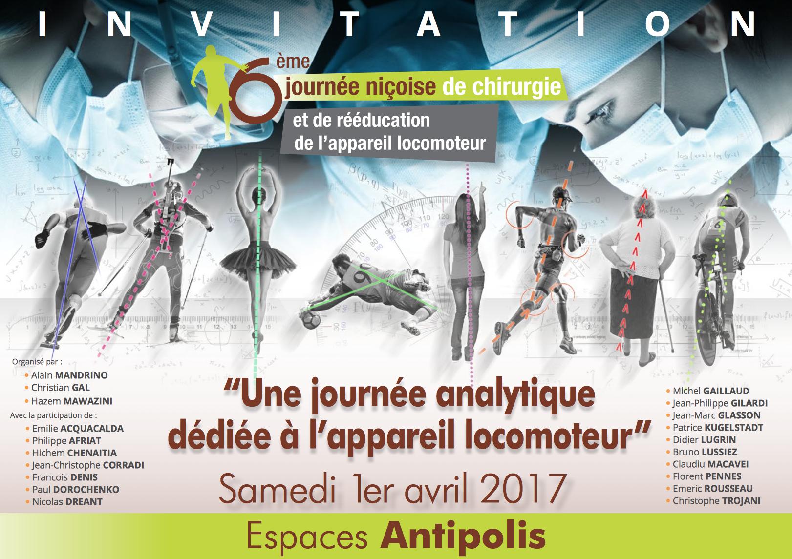 """""""Une journée analytique dédiée à l'appareil locomoteur"""""""